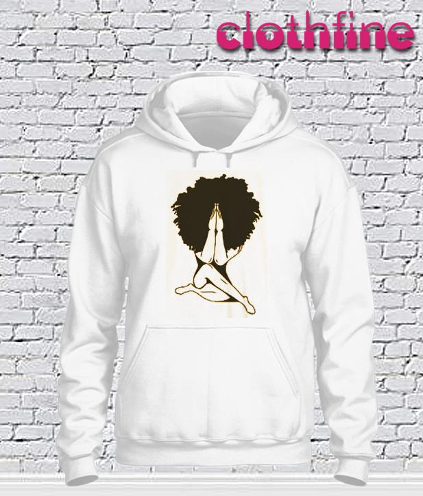 Afro woman Praying Hoodie