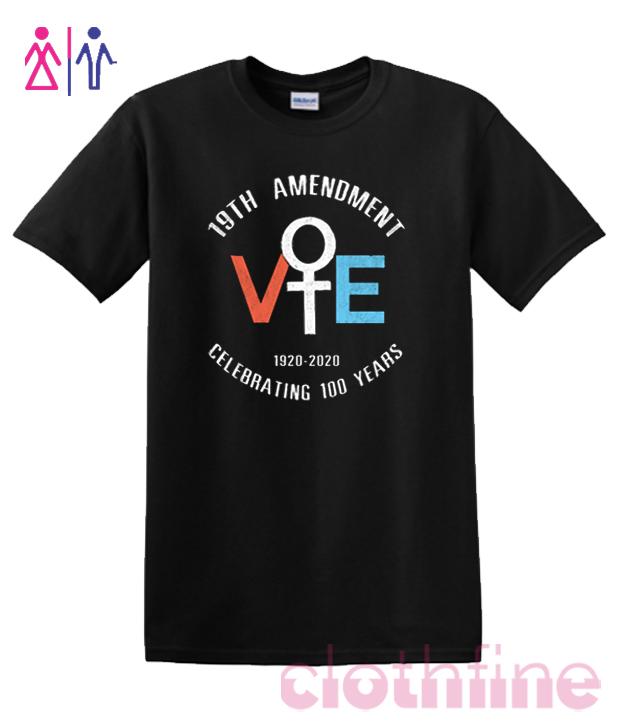19Th Amendment Celebrating 100 Years 1920-2020 RSK T-Shirt
