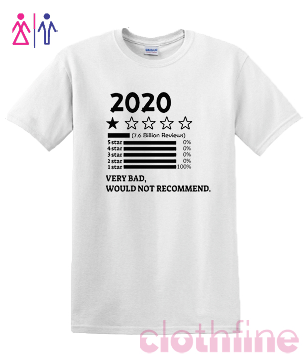 2020 Very Bad Would not Recommend Quarantined RSK T-shirt