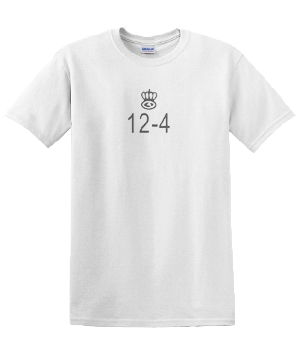 12-4 White RSK graphic T-shirt