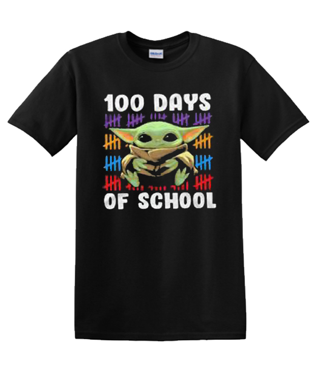 100 Days Of School Baby Yoda T shirt