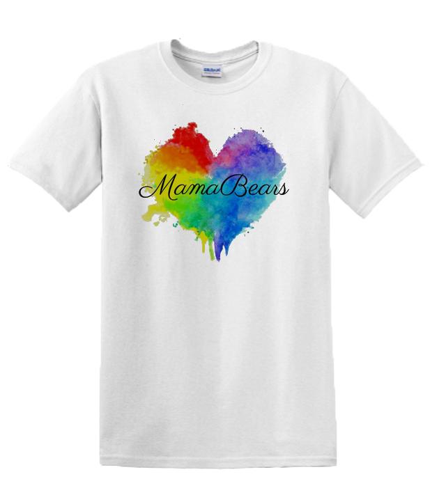 Rainbow Heart Moms T Shirt